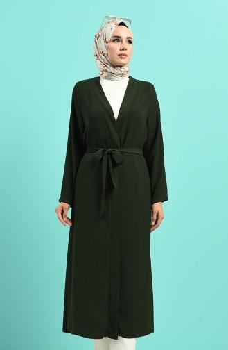 Smaragdgrün Kimono 8268-06