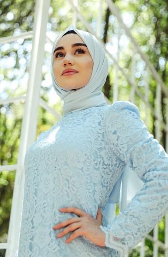 Baby Blues Islamic Clothing Evening Dress 9027-06