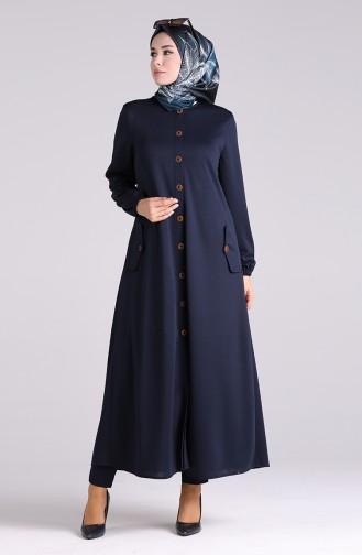 Navy Blue Abaya 2085-02