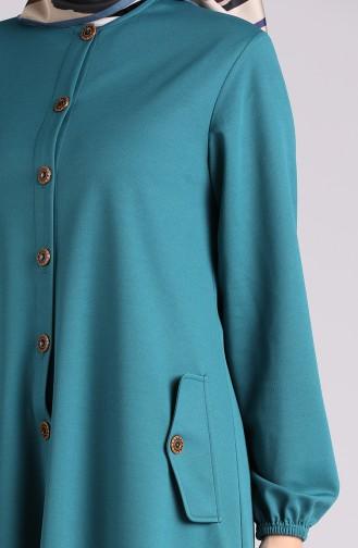 Oil Blue Abaya 2085-09