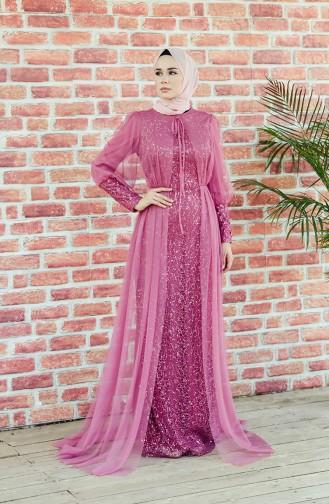 Beige-Rose Hijab-Abendkleider 5346-05