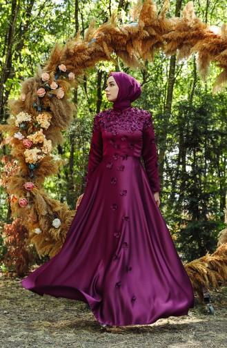 Habillé Hijab Plum 1017-02