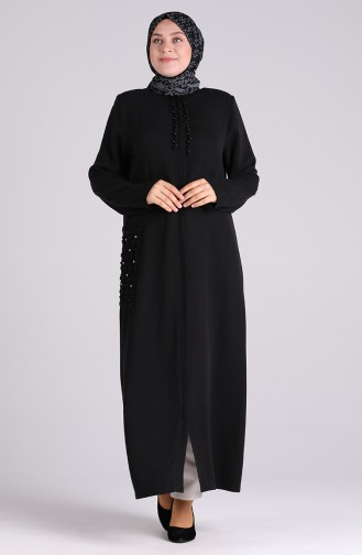 Black Abaya 0368-04