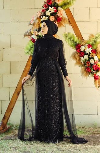 Black İslamitische Avondjurk 5346-02