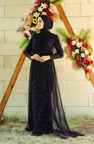 Habillé Hijab Noir 5346-02