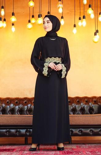 Habillé Hijab Noir 7496-01