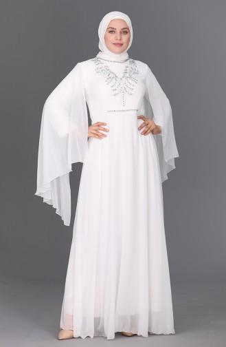 Habillé Hijab Ecru 2058-01