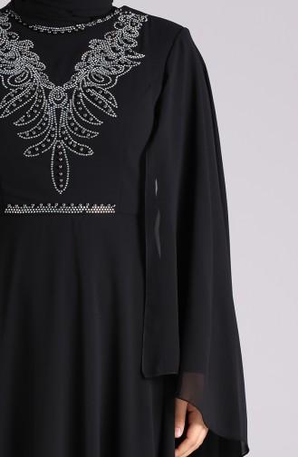 Habillé Hijab Noir 2058-03