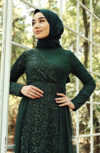 Emerald Islamic Clothing Evening Dress 5345-02