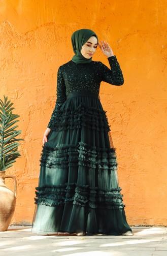 Green İslamitische Avondjurk 52770-03