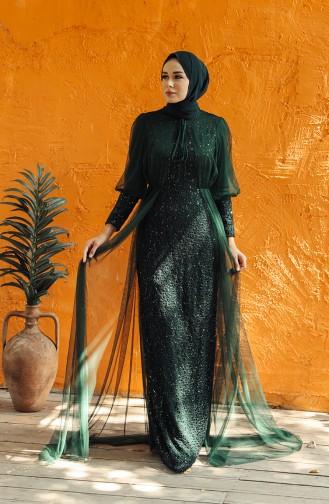 Emerald Islamic Clothing Evening Dress 5346-07