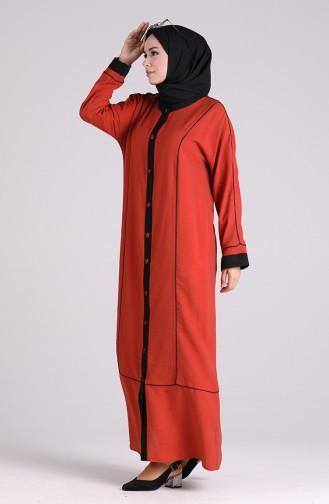 Abayas Couleur brique 1091-05