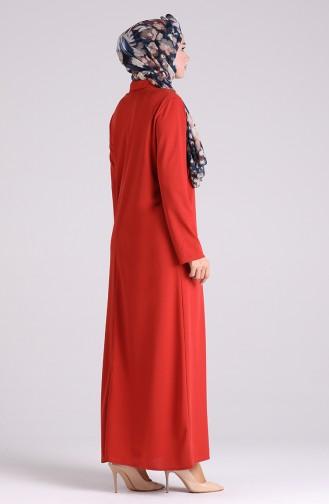 Abayas Couleur brique 5159-05