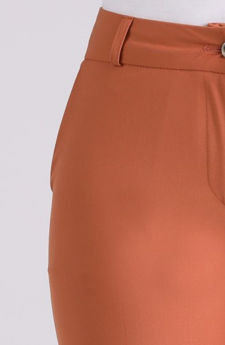 Classic Straight Leg Trousers with Pockets 3301pnt-01 Tobacco 3301PNT-01