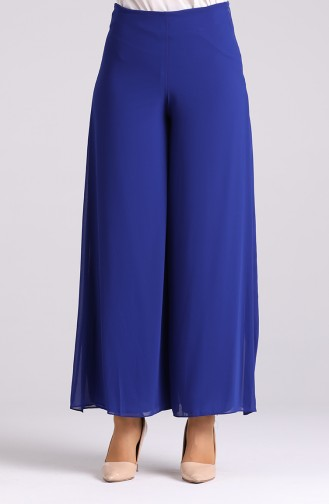 Wide Leg Chiffon Trousers 4002-06 Saxe Blue 4002-06