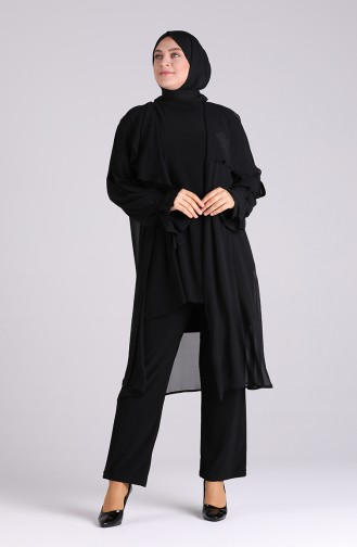 Plus Size Wide Leg Pants 4032-01 Black 4032-01