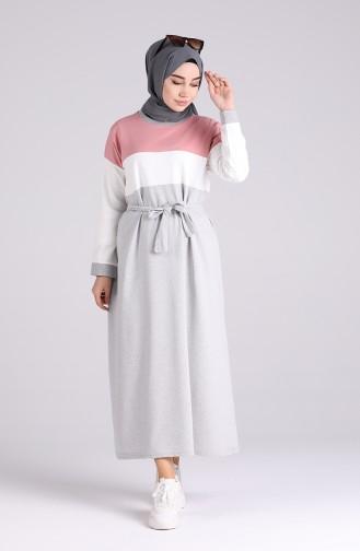 Gray Hijab Dress 4506-03