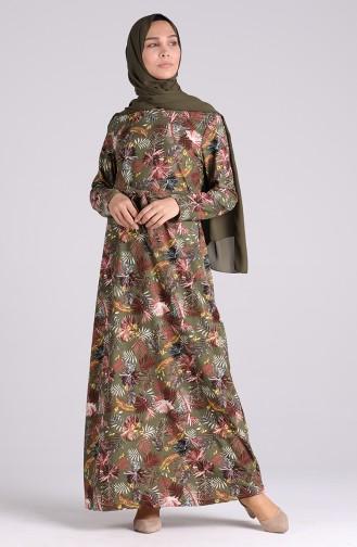 فستان كاكي 5709S-01