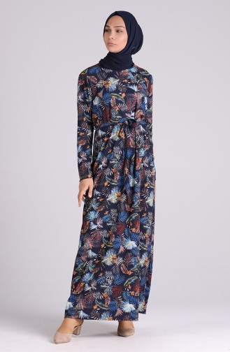 فستان أزرق كحلي 5709S-02