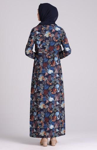 Robe Hijab Bleu Marine 5709S-02