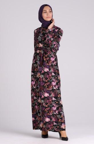 Robe Hijab Noir 5709S-04