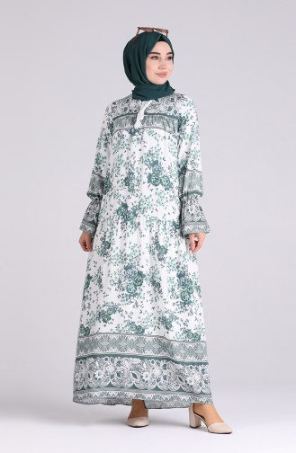 Robe Hijab Vert noisette 5160-02