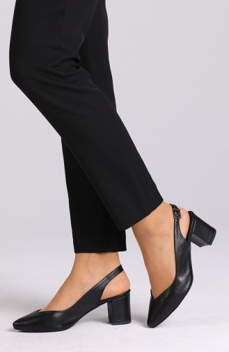 Chaussures a Talons Noir 0611-09