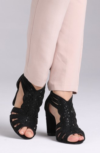 Black Heeled Shoes 1353-04