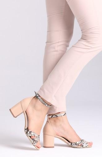 Chaussures a Talons Beige 9110-01