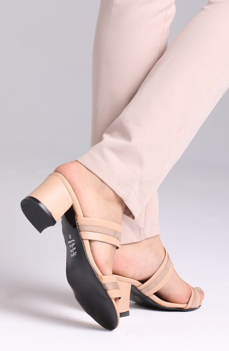 Skin color Summer slippers 9105-03