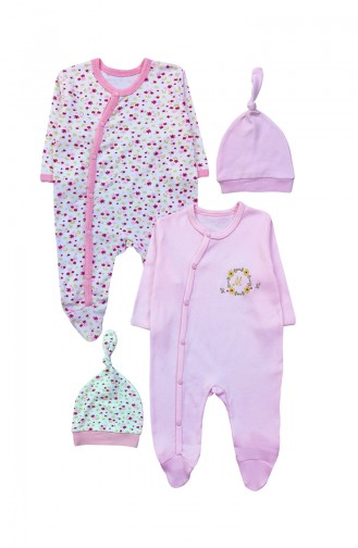 Pink Baby Overall 9740