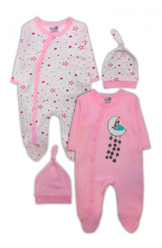 Pink Baby Overall 0576