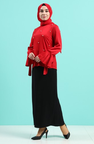 Red Blouse 1018-04
