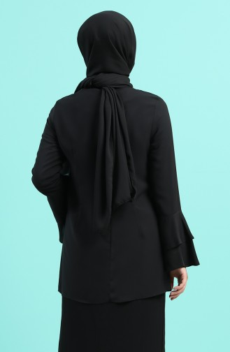 Schwarz Bluse 2012A-01