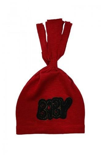 Claret red Hat and bandana models 0851