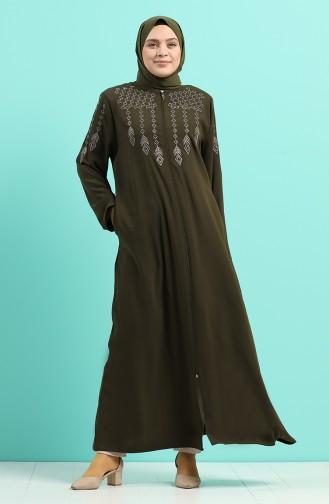 Khaki Abaya 0010-02