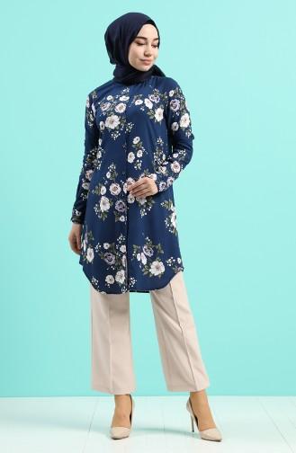 قميص أزرق كحلي 0736-03
