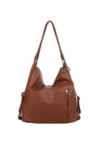 Tobacco Brown Shoulder Bag 410-091