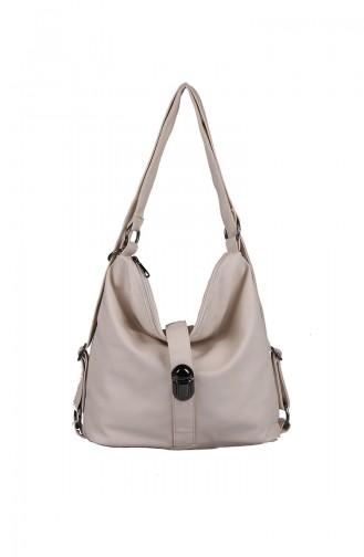 حقيبة كتف كريمي 410-116