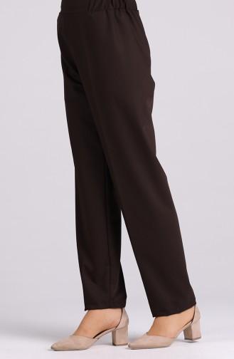 Elastic waist Pants 1983-07 Brown 1983-07