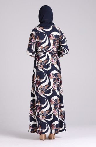 فستان أزرق كحلي 5709U-02