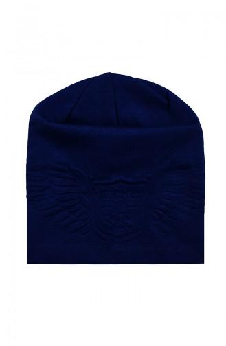 Baskılı Penye Şapka G0946 Lacivert