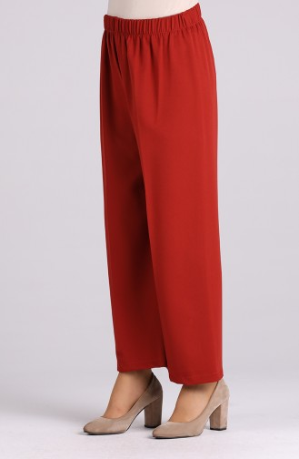 Elastic waist wide-leg Trousers 4004-08 Tile 4004-08
