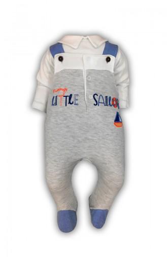 Erkek Bebek Tişört Tulum 2 li Takım H0391 Gri 0391