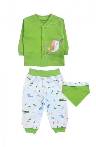 بدل الأطفال وحديثي الولادة أخضر حشيشي 0044