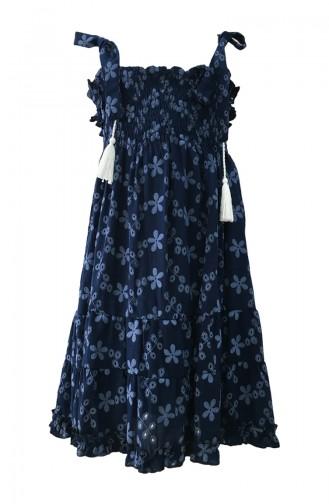Robe Enfant Bleu Marine 0340