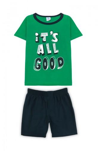 Erkek Çocuk Şort Takım H0295 Yeşil