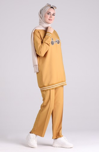 Stony Tunic Trousers Double Suit 0299-03 Mustard 0299-03