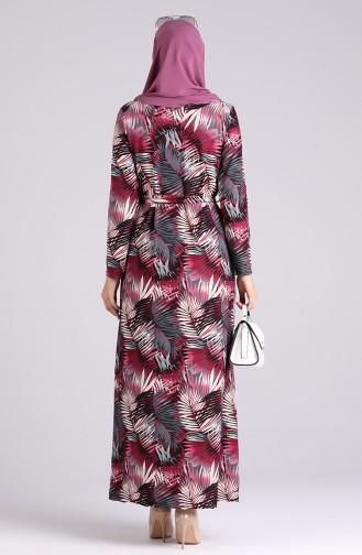Robe Hijab Plum 5709Y-02