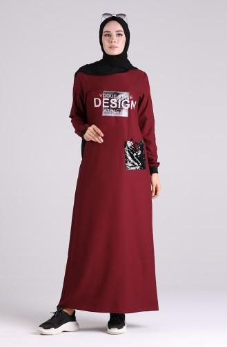 Robe Hijab Bordeaux 0400-01